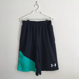 Under Armour Black/green Men's Shorts Size Small